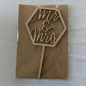 Other - Lazer Cut Wooden Mr & Mrs Cake Topper Wedding